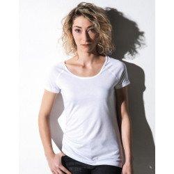 TF-RL-O-BL127 - Emily Viscose-Cotton Rolled Up Raglan T-Shirt
