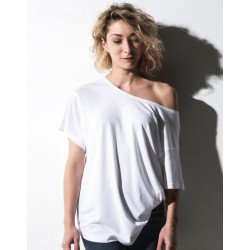TF-SSL-O-BL128 - Kate Viscose-Cotton Fashion Boxy T-Shirt