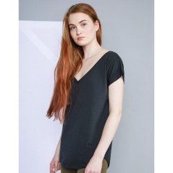 M147 - Womens Loose Fit V Neck T