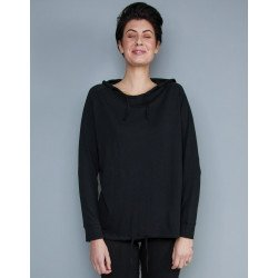 M118 - Womens Loose Fit Hooded T