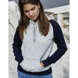 5433 - Ladies Two-Tone Hooded Sweatshirt