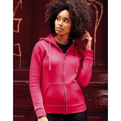 R-266F-0 - Sweat-shirt à capuche zippé authentic pour femme