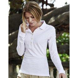 146 - Ladies Luxury LS Stretch Polo