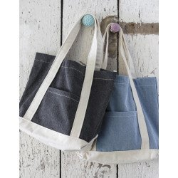 CA-3828 DS - Canvas Denim Shopper