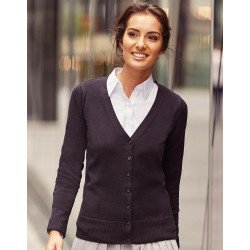 R-715F-0 - Ladies V-Neck Knitted Cardigan
