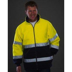 HVK10B - Fluo 2-Tone Fleece Jacket