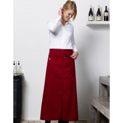 JG12 - Berlin Long Bistro Apron with Vent and Pocket