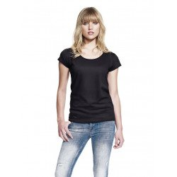 N14 - WOMEN'S RAW EDGE JERSEY T-SHIRT