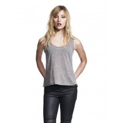 N96 - WOMEN'S CURVED HEM TENCEL VEST