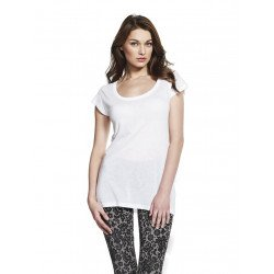 T41 - WOMEN'S TENCEL BLEND SHEER JERSEY T-SHIRT