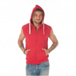 F108 - Sleeves less Hood fleece Zip 300