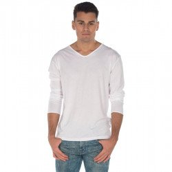 T112 - Men long sleeves V neck tee 120