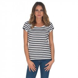 T223 - T-SHIRT MARINIERE SCOOP NECK RAYE MARIN