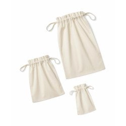 W118 - Organic Cotton Drawcord Bag