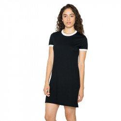 RSABB3274W - Robe t-shirt femme en coton et polyester