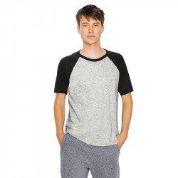 RSABB4237W - T-shirt unisexe en coton et raglan à manches courtes
