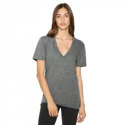 TR456W - T-shirt unisexe à col en V et à col en V profond