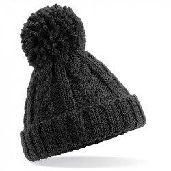 B480A - Bonnet en laine mélangée torsadée pour bébé