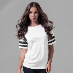 BY033 - T-shirt rayé Femme maille filet