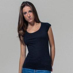 BY035 - T-shirt Femme dos découpé