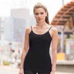 SK126 - Débardeur « Feel good » stretch à fines bretelles pour femmes