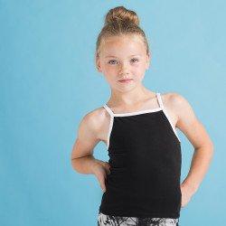 SM127 - Débardeur « Feel good » stretch à bretelles contrastées pour enfants