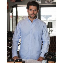 R-920M-0 - Men`s LS Tailored Washed Oxford Shirt