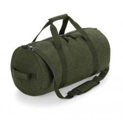 BG655 - Vintage Canvas Barrel Bag