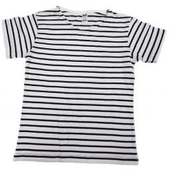 MO221 - T-shirt Enfant Marinière Rayures Fines Manches Courtes-MORE