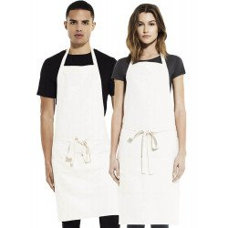 SA77 - Unisex bib apron with pockets