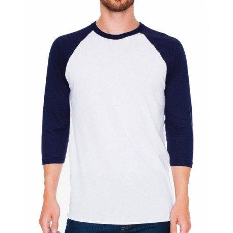 BB453W - Unisex Poly-Cotton 3/4 Sleeve Raglan T-Shirt