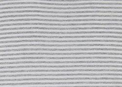 White / Melange Grey Stripe