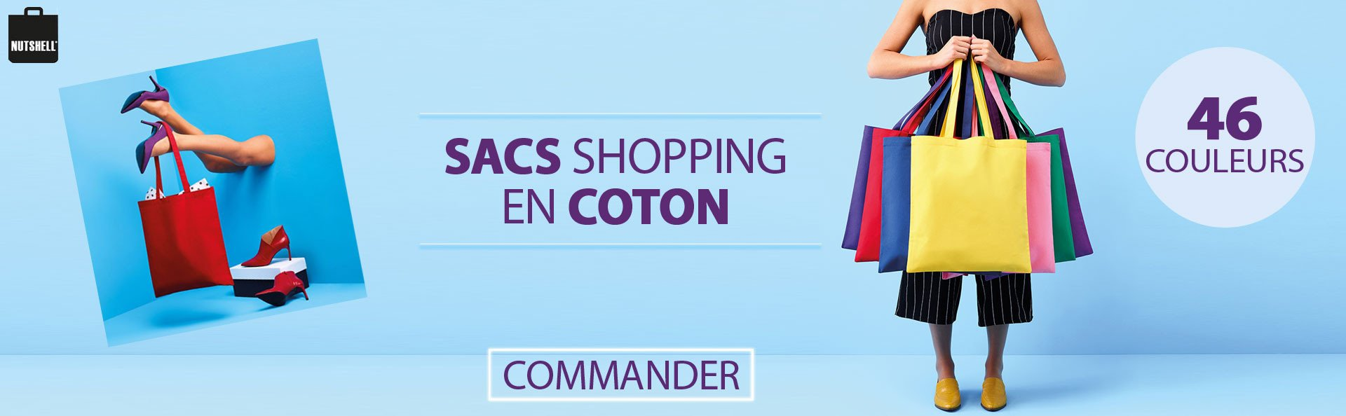 Sacs shopping en coton